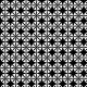 Tkanina 11321 | Geometryczne kwiatki - negatyw