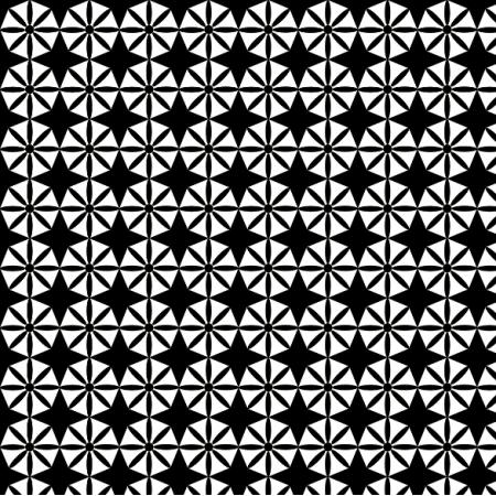 Fabric 11321 | Geometryczne kwiatki - negatyw