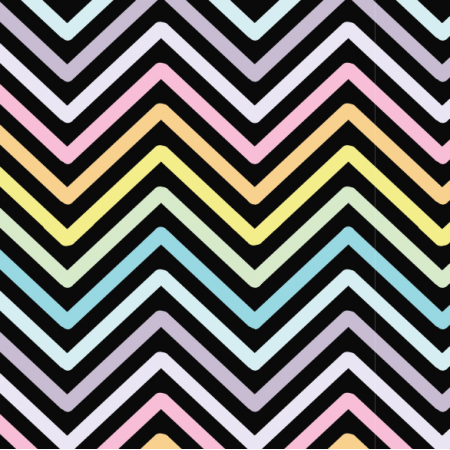 Fabric 11342 | zig zak - czarne tło
