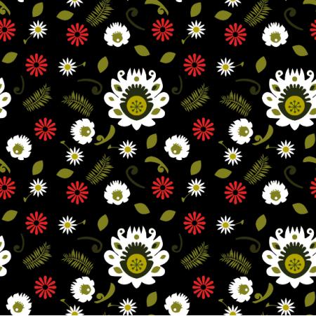 Fabric 11375 | Folk - Oliwkowy
