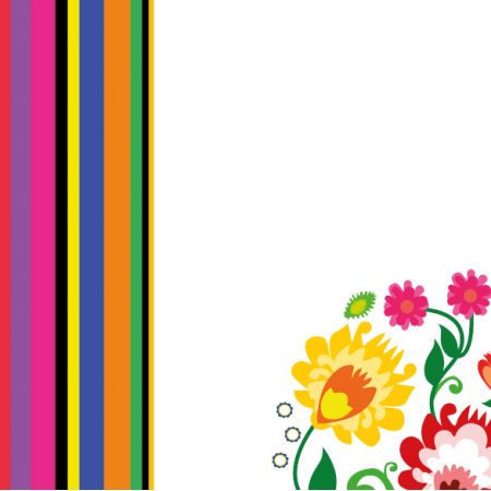 Fabric 11404 | łowicki - paski i serca - BIG