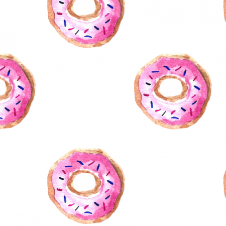 Fabric 11413 | Pink donuts0