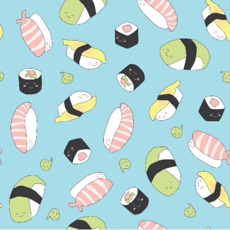 Tkanina 11461 | Sushi SŁODKIE miŁe