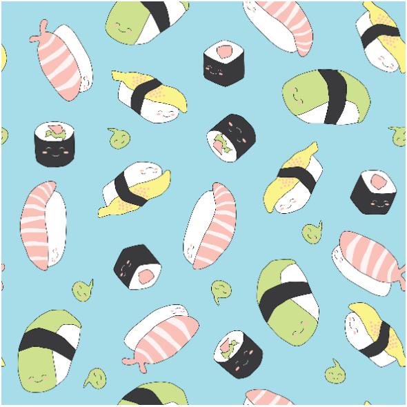 Fabric 11461   Sushi SŁODKIE miŁe