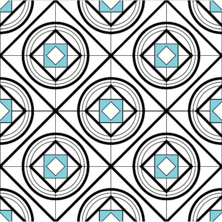 Tkanina 11466 | romby Abstrakcyjne
