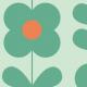 Fabric 11543   Kwiaty  (seria: Mellow RETRO)