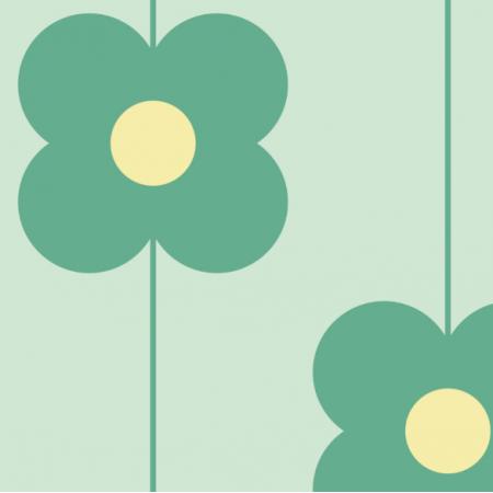 Fabric 11544 | Kwiaty  (seria: Mellow RETRO)