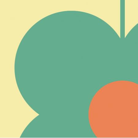 Tkanina 11547 | Kwiaty  (seria: Mellow RETRO)