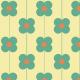 Fabric 11547 | Kwiaty  (seria: Mellow RETRO)