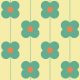 Fabric 11548   Kwiaty  (seria: Mellow RETRO)