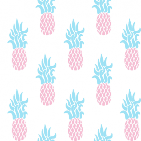 Fabric 11565 | ANANAS na bialym