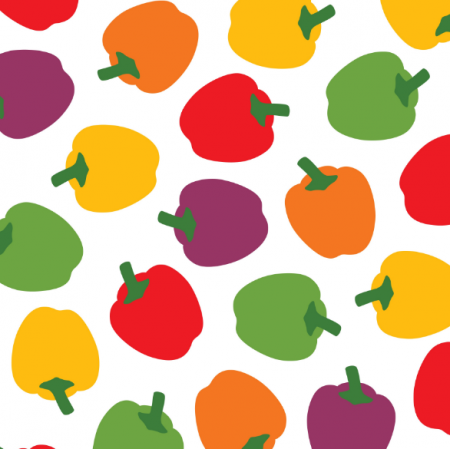 Fabric 11713 | COLORFUL BELL PEPPERS