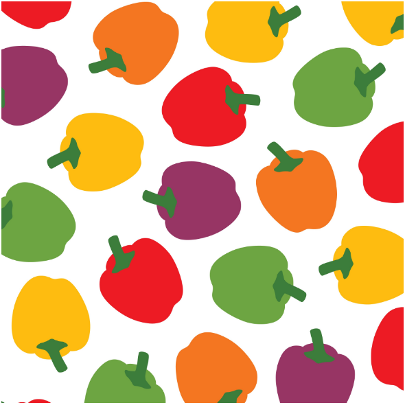 Tkanina 11713 | COLORFUL BELL PEPPERS