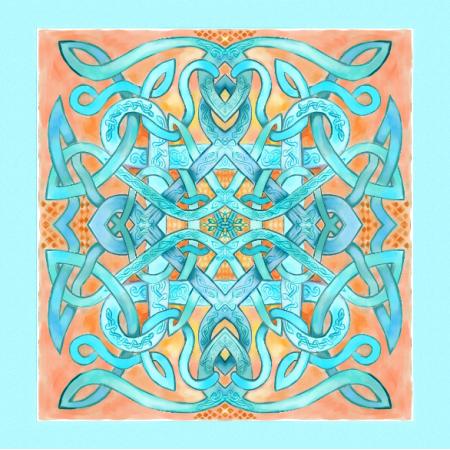 Fabric 11726 | Celtycki pastelowy