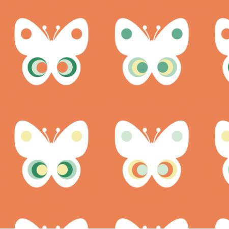 Tkanina 11751 | Motyle  (seria: Mellow RETRO)