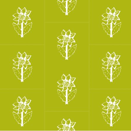 11771 | Sunflower - white and green pattern