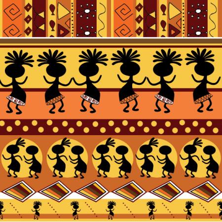 Tkanina 11800 | Tribal dance