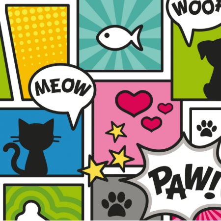Fabric 11807 | COMIC BOOK STYLE PET PATTERN