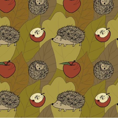 Fabric 11820 | Jeże (Jesień_1)0000