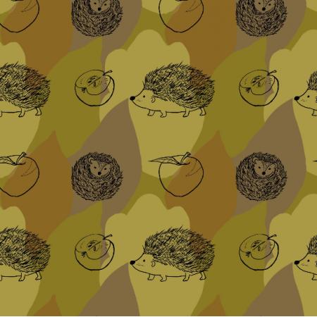 Tkanina 11821 | Jeże (Jesień_2)0