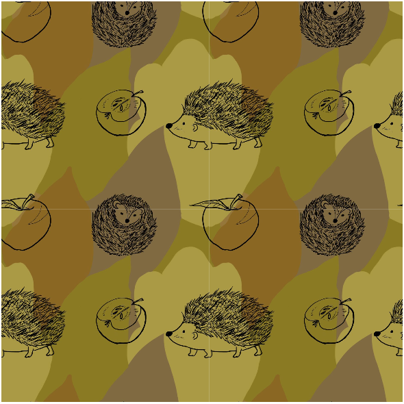 Fabric 11821 | Jeże (Jesień_2)0