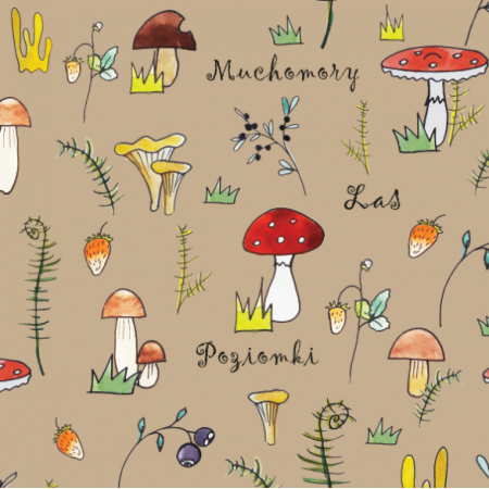 Fabric 11845 | w lesie beż