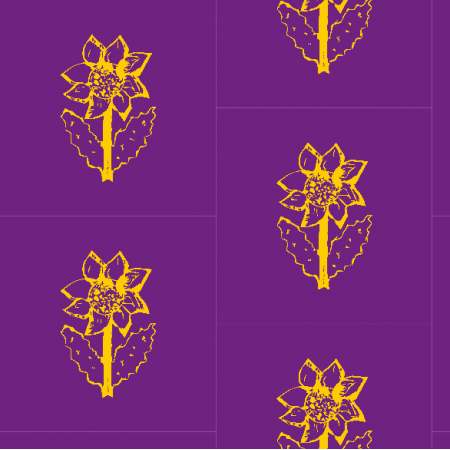 11852 | SunFlower yellow and purple pattern