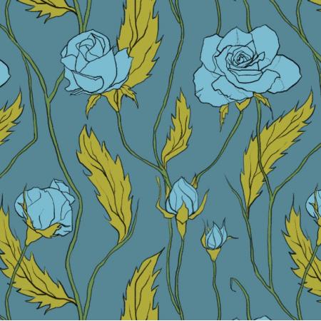 Fabric 11880 | Róże większe (Kwiaty_5)0