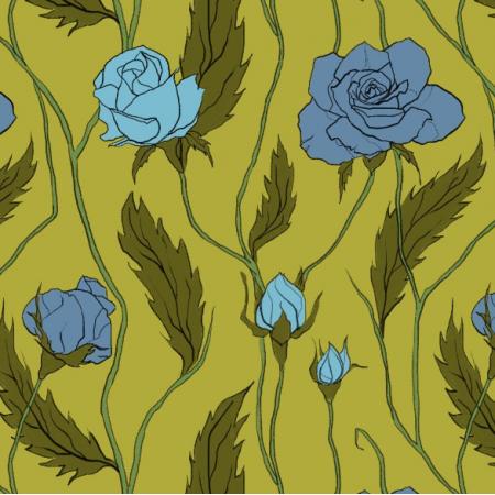 Fabric 11897 | Róże Większe (Kwiaty_6)