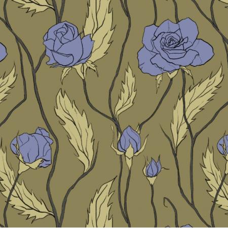 Tkanina 11898 | Róże Większe (Kwiaty_7)