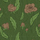 Tkanina 11899 | Róże Większe (Kwiaty_8)