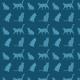 Tkanina 11901 | Koty (koty_5)