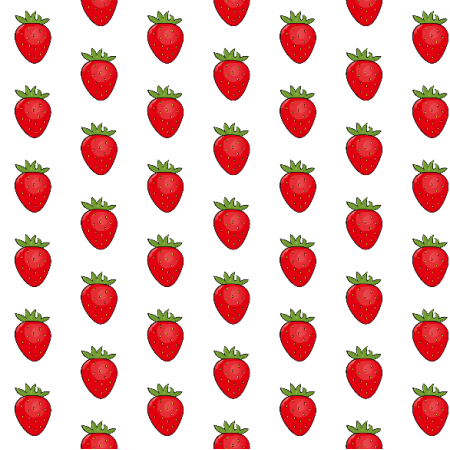 Tkanina 11938 | Słodkie truskawki