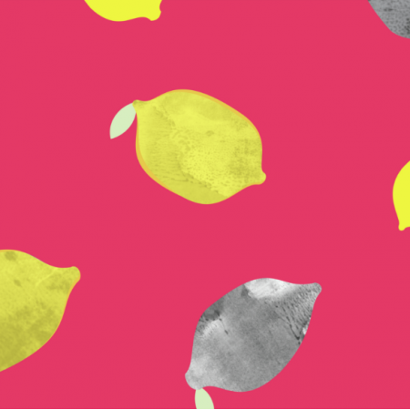 Fabric 11943 | CYTRYNY RÓŻOWE