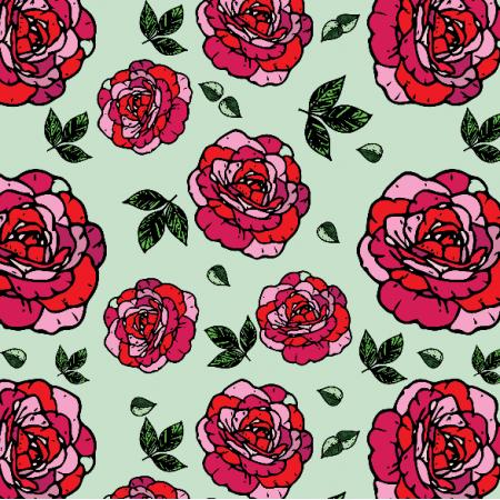 Tkanina 11955 | Róże - Roses