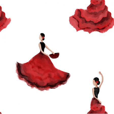 Fabric 11976   flamenco