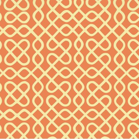 Fabric 12019 | zawijasy - słoma na pomaranczy