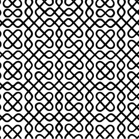 Fabric 12022 | zawijasy - Czarne na białym