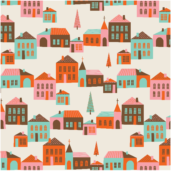 Tkanina 1379 | Sleigh Bells Village