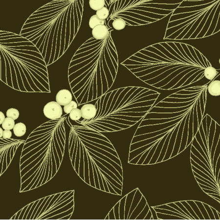 Fabric 12029 | Golden leaves