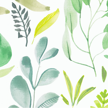 12037 |Watercolour foliage