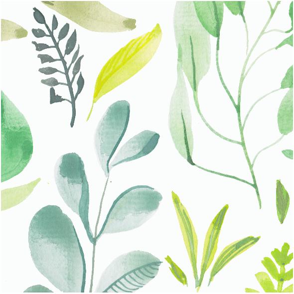 Fabric 12037 |Watercolour foliage