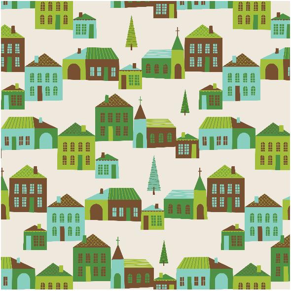 Tkanina 1380 | Sleigh Bells Village