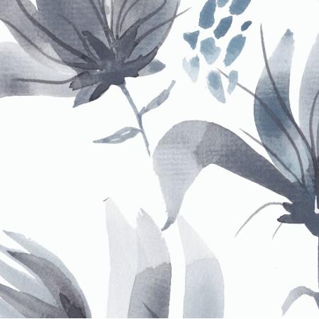 Fabric 12040 | Dark watercolour floral