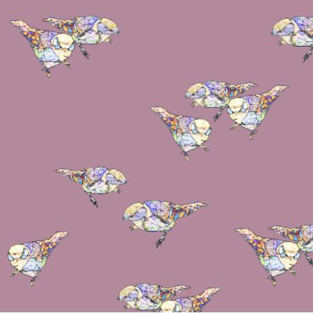 12047 | Powder Pink Birds