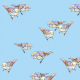Fabric 12048 | Light Blue Birds
