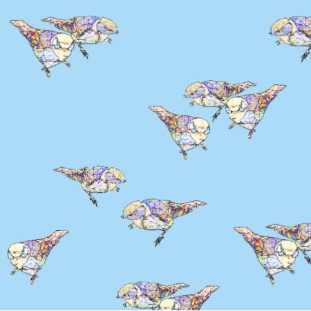 12048 | Light Blue Birds