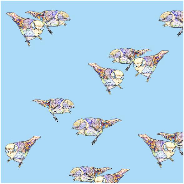 Fabric 12048 | Light Blue Birds