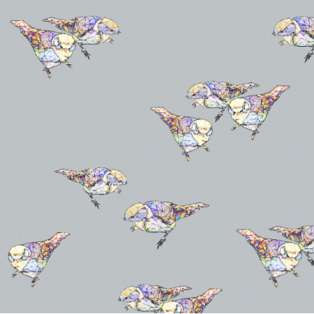 Fabric 12053 | Grey Birds