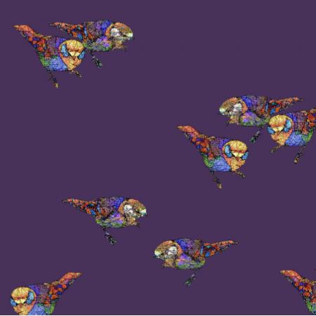 Fabric 12054 | Plum Birds